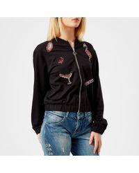 Guess - Flamingo Babe Fleece Jacket - Lyst
