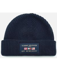 Tommy Hilfiger Outdoors Patch Beanie Hat - Blue