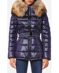 FROCCELLA - Mid Belt Big Fur Collar Coat - Lyst