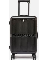 Karl Lagerfeld K/ikonik Hardcase Trolley - Black