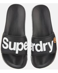 Superdry Classic Pool Slide Sandals - Black