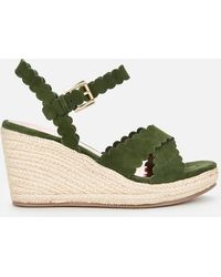 Ted Baker Selanas Wedged Sandals - Green