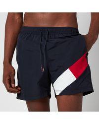 Tommy Hilfiger Leg Flag Swim Shorts - Blue