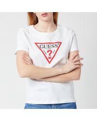 Guess Short Sleeve Original T-shirt - White