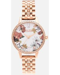 Olivia Burton Sparkle Florals Demi Rose Sparkle Bracelet Watch - Metallic