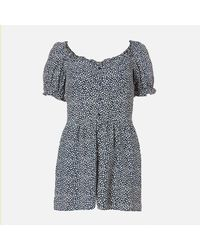 Superdry Quincy Summer Playsuit - Blue