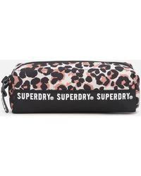 Superdry Leopard Montana Pencil Case - Black