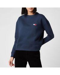 Tommy Hilfiger Tommy Badge Crew Neck Sweatshirt - Blue