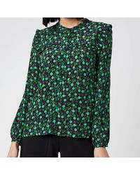 Whistles Floral Printed Top - Green