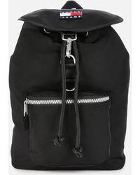 Tommy Hilfiger Tjm Heritage Flap Backpack - Black