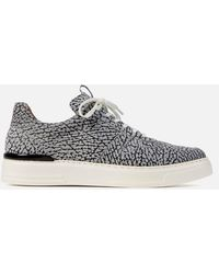 Duke & Dexter Ritchie Nelly Printed Suede Cupsole Trainers - Black