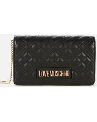 Love Moschino Quilted Chain Cross Body Bag - Black