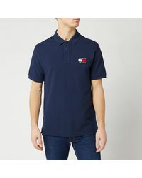 Tommy Hilfiger Tommy Badge Polo Shirt - Blue