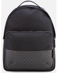 Emporio Armani Nylon Backpack - Black