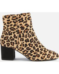 Dune - Olyvea Suede Heeled Ankle Boots - Lyst