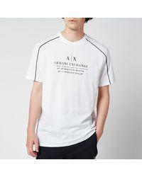 Armani Exchange Shoulder Piping T-shirt - White
