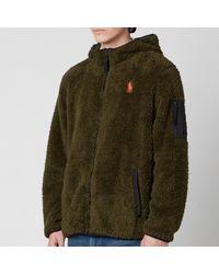 Polo Ralph Lauren Curly Sherpa Full Zip Hoodie - Green