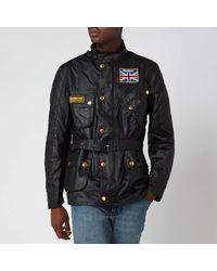 Barbour Men's Union Jack International Coat - Black