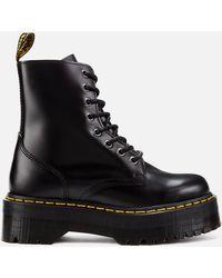 Dr. Martens Jadon Polished Smooth Leather 8-eye Boots - Black