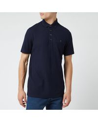 Ted Baker Textured Polo Shirt - Blue