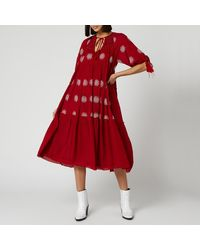 Free People Celestial Skies Maxi Dress - Red