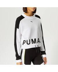 PUMA Chase Crew Neck Sweatshirt - White