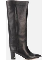 Kurt Geiger Burlington Leather Heeled Knee High Boots - Black