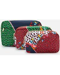 Ted Baker Celdaa Peppermint Triple Wash Bag - Red