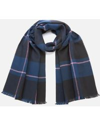 Ted Baker Halwil Check Scarf - Blue