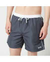 BOSS by HUGO BOSS Boss Swimwear Starfish Medium Length Swimshorts - Grey