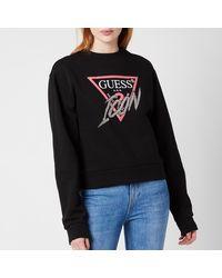 Guess Icon Fleece Sweatshirt - Black