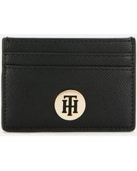Tommy Hilfiger Classic Saffiano Card Holder - Black