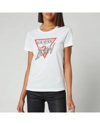 Guess Short Sleeve Crewneck Icon T-shirt - White