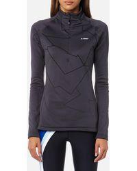 adidas - Icesky 2 Long Sleeve Fleece Jumper - Lyst