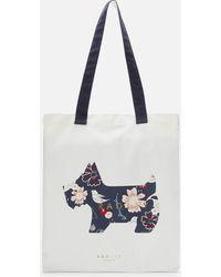 Radley Heritage Dog Painterly Floral Medium Tote Bag - Blue