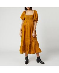 Free People Lets Be Friends Maxi Dress - Brown