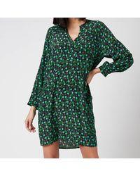 Whistles Floral Printed Sack Dress - Green