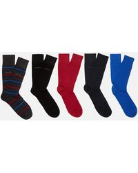 BOSS by Hugo Boss - Gift Boxed Five Pack Socks - Lyst