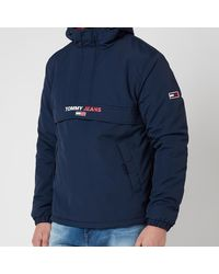 Tommy Hilfiger Solid Popover Jacket - Blue