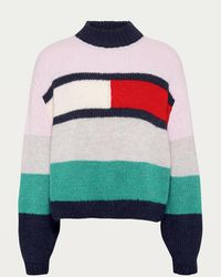 Tommy Hilfiger Tjw Bell Sleeve Flag Sweatshirt - Pink