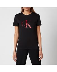Calvin Klein Zebra Ck T-shirt - Black