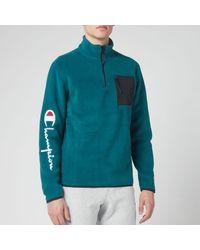 Champion Script Arm Half Zip Fleece - Green
