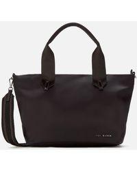 Ted Baker Macieyy Plain Small Nylon Tote Bag - Black
