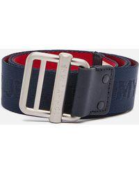 Tommy Hilfiger Logo Webbing Belt - Blue