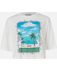 Guess Short Sleeve Rn Beach T-shirt - White