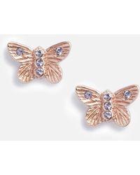Olivia Burton Bejewelled 3d Butterfly Stud Earrings - Multicolor