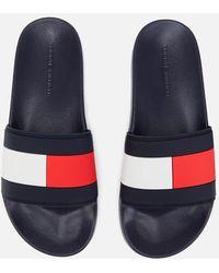 Tommy Hilfiger Essential Flag Pool Slide Sandals - Blue