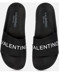 Valentino Slide Sandals - Black