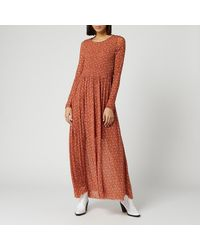 Free People Hello And Goodbye Midi Dress - Brown