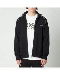 BOSS by Hugo Boss Boss Bodywear Mix&match Regular Fit Zip Through Jacket - Black